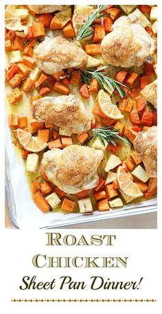 Sheet Pan Roast Chicken Dinner!  Paleo and Whole30!