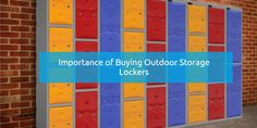 Importance of Buying Outdoor Storage Lockers by plastic-lockers.com #outdoor #storage #lockers #school #college #students