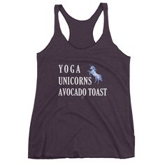 YOGA UNICORNS AVOCADO TOAST Tank