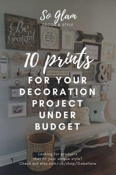 20 Beautiful Farmhouse Home Decor Ideas, including DIY ideas, tables, wreaths, bathrooms, and more.