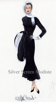 pictures of edith head designs | This is the final version of the costume Gloria Swanson wears when she ...