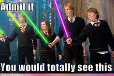 Photo : Parodie Star Wars Harry Potter troque sa baguette contre un sabre laser/DR - Gentside Harry Potter Crossover, Fandom Crossover, Sirius Black, The Walking Dead, Aquaman, Dc Comics Peliculas, Sabre Laser, Avengers, A New York Minute