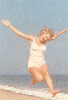 Marilyn leaping,I believe this shows the real Marilyn...