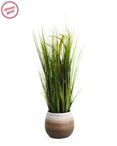 24in+Faux+Grass+In+3+Tone+Pot