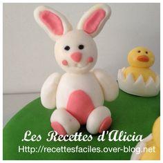 Tuto lapin de pâques en pate a sucre - Les recettes d'Alicia
