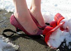 Snow shovels for your shoes | #TreatYoSelf | #ParksandRec