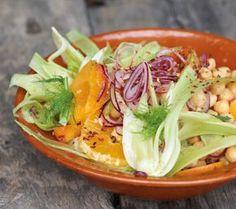 Kichererbsen-Fenchel-Salat mit Aprikosen und Orangen - [ESSEN UND TRINKEN]
