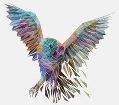 Geometric Owl Art Print By Thiago Garcia Pinned by www.myowlbarn.com