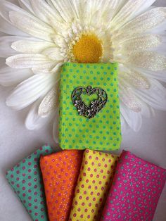 Colorful Polka Dot Prints with Silver tone by LorenesLocket, $19.75