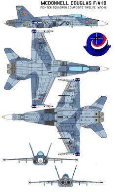 "McDonnell Douglas FA-18 VFC-12 Fighter Squadron Composite Twelve (VFC-12) The ""Fighting Omars"" of Fighter Squadron Composite Twelve (VFC-12) is currently the Naval Reserve's premier adversary squad..."