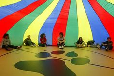 Parachute!  This was my favorite part of elementary school gym.