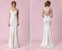 vestido de noiva vintade com costas ilusao de gemy maalouf 2016