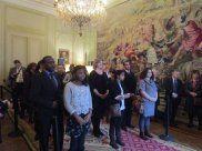 Mercredi 28 janvier, Mme Butel, Consul général de France à Bruxelles a présidé la cérémonie officielle d'accueil dans la communauté et la nationalité françaises de 27 personnes, issues d'horizons et d'univers très variés.