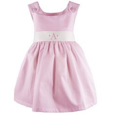 Wish this dress came in a color other than pink or white, but adorable with the monogrammed sash