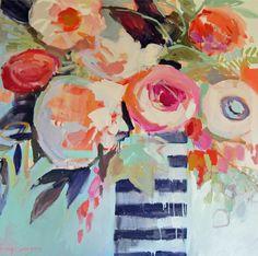 One Kings Lane - Emerging Artists - Erin Gregory, Efflorescence 8 Arte Floral, Floral Wall, Art And Illustration, Erin Gregory, Painting Inspiration, Flower Art, Pop Art, Artsy, Fine Art