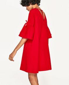 Image 3 of MINI DRESS WITH RUFFLED SLEEVES from Zara
