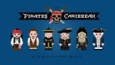 Pirates of the Caribbean Characters  Cross by pixelpowerdesign, $6.00