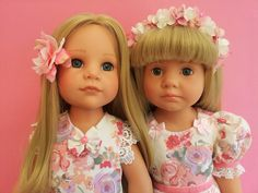 Gotz doll sisters:  Hannah and Katie Happy Kidz