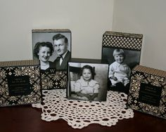 I love these blocks!  What a great way to display your family history.