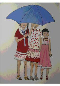 Chinita con paraguas V