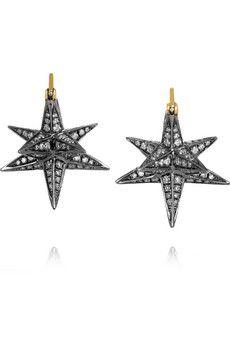 Noor Fares Merkaba 18-karat gold diamond earrings   NET-A-PORTER