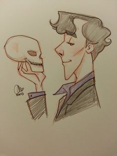"""I have missed you, my friend."" Sherlock returns to Baker Street and greets an… Sherlock Holmes Dibujos, Sherlock Holmes 3, Sherlock Drawing, Mrs Hudson, Sherlolly, Baker Street, Superwholock, My Friend, Nerdy"