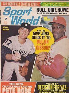 baseball magazines 1969 | 1969 Sport World Magazine Bob Gibson Baseball | eBay