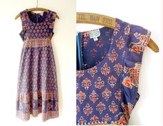 Indian cotton dress / Hamari dress / 1970s by stardustvintageLA