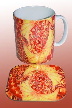 love dragons mug and coaster www.meikiedesigns.com/mugs.html