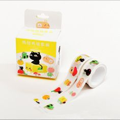 Cartoon cat and his animated friends come in a set of two rolls of tape for a combined total size. Size: 15 mm x 3 m (each) Quantity: 2 Roll Set What