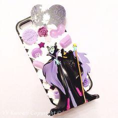 Purple Disney villain phone case (sleeping beauty)
