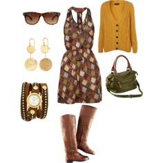 Such an autumnal dress, I love this!