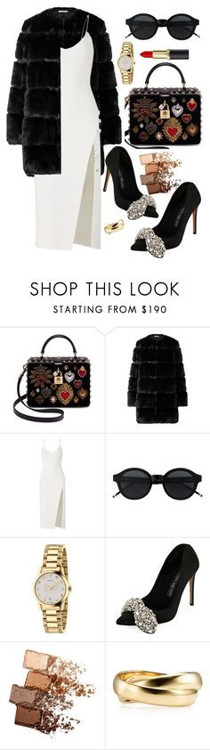 """""""black&white"""" by elly-852 ❤ liked on Polyvore featuring Dolce&Gabbana, Givenchy, David Koma, Gucci, Alexander McQueen and Maybelline"""