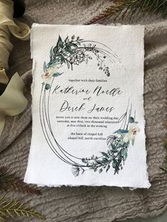 WEDDING INVITATIONSSet 250 Organic Wedding Invitations Sage Wedding, Our Wedding, Green Wedding Invitations, Invites, Never Getting Married, You're Beautiful, Wedding Paper, Paper Goods, Earthy