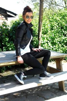 Must-have shoes: Black Converse high tops. It all depends on your style but these are a classic, come on!