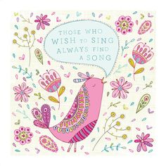 Singing Bird 8x8 digital print of original by jenskelley on Etsy, $15.00