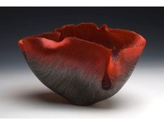 Toots Zinsky (American, born 1951.)  Ansa,  2008.  Filet-de verre (fused and thermo-formed colored glass threads.)  Newport [RI] Art Museum.  Collection overview.