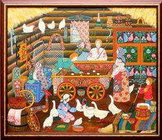Russian folk art painting...<3