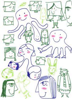 The Art of Walter Silva: Doodles  http://waltersilvaart.blogspot.com