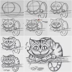 How to Draw the Cheshire Cat Easily | iCreativeIdeas.com Like Us on Facebook == https://www.facebook.com/icreativeideas