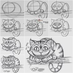 How to Draw the Cheshire Cat Easily | iCreativeIdeas.com Like Us on Facebook == https://www.facebook.com/icreativeideas
