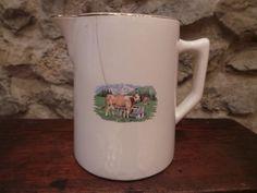 """Pot à lait ancien Savoie """" Vache"""" en montagne déco intérieur chalet"""