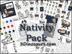 Free Nativity Pack - Over 60 pages for ages 2 to - God bless people for making these! Preschool Christmas, Christmas Nativity, Christmas Activities, Christmas Themes, Preschool Activities, Christmas Holidays, Christmas Crafts, Happy Birthday Jesus, Free Christmas Printables