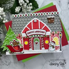 Card Making Inspiration, Making Ideas, Christmas Mood, Christmas Cards, Paper Craft Supplies, Paper Crafts, Honey Bee Stamps, Bee Cards, Santas Workshop