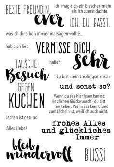 "Klartext Stempelset ""bleib wundervoll""   von www.danipeuss.de"