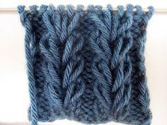 Колоски из вытянутых петель. Вязание на спицах. Magic loop Pattern - YouTube