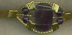 Amethyst Gold Wire Wrap Bracelet