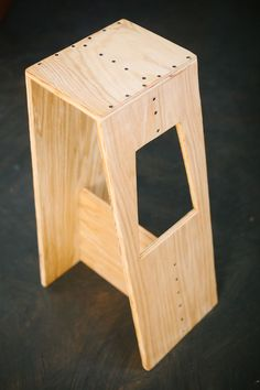 DIY Creative Stools • Tons of Ideas & Tutorials! Including from 'a beautiful mess', this cool DIY modern stool made from plywood.