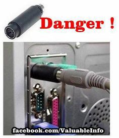 PLEASE BE CAREFUL whenever you're using a public computer (Like Internet Cafes, Hotels, etc ). Check the back of the pc and see if the device Shown in the pic is there....If so then do not use it.