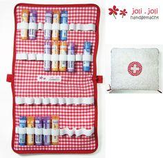 Trousse pour des tubes d'homéopathie ... de joli.joli fait à la main sur DaWanda.com